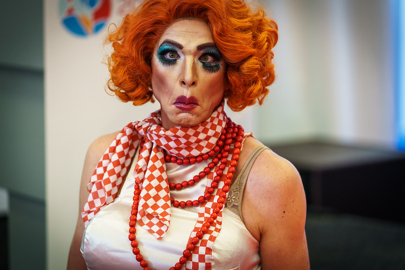 22nd International AIDS Conference (AIDS 2018) Amsterdam, Netherlands.  <br /> Copyright: Matthijs Immink/IAS<br /> <br /> Global Village Opening<br /> <br /> Photo shows: Jennifer Hopelezz (& the House of Hopelezz)