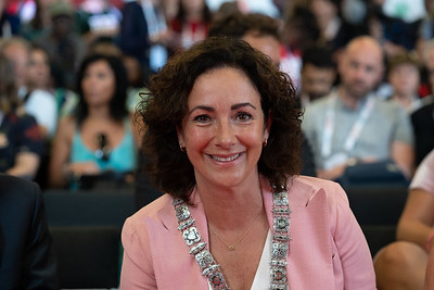 22nd International AIDS Conference (AIDS 2018) Amsterdam, Netherlands.   Copyright: Matthijs Immink/IAS  Global Village Opening  Photo shows: Mayor of Amstterdam Femke Halsema