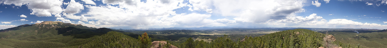 360 degree shot from Raspberry Mountain in Colorado.