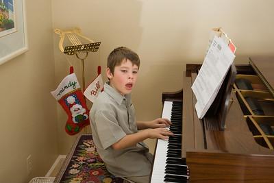 Kevin making music