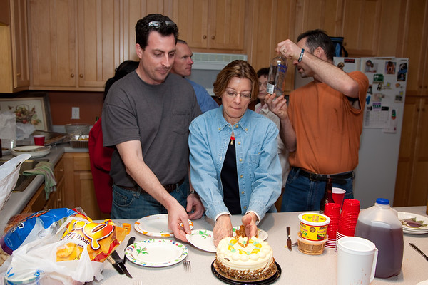 Cutting the cake and deciding what do drink