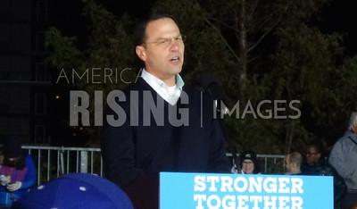 Josh Shapiro At Hillary Clinton Campaign Rally In Philadelphia, PA