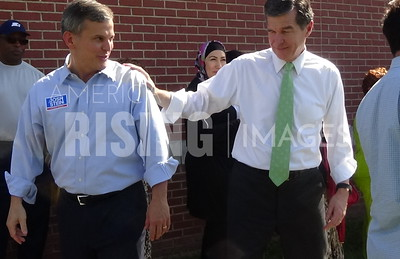 Josh Stein At Chavis Park Early Voting Site With Roy Cooper In Raleigh, NC