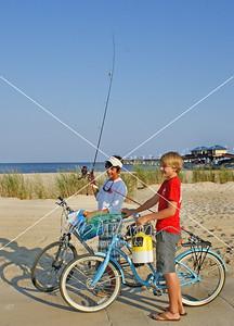fishing biking pier Waveland  9323