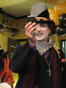 Mad Hatter with Blackberry