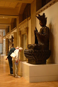 Contemplating the Buddha