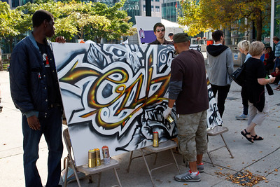 Cruz1 at the Street Art Festival