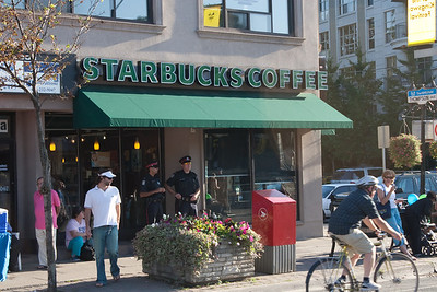 Cops at Starbucks