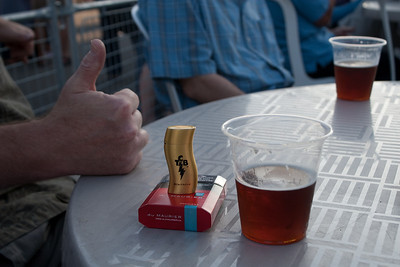 Thumbs Up for Smokes and Beer