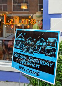 Second Saturday sign 7486
