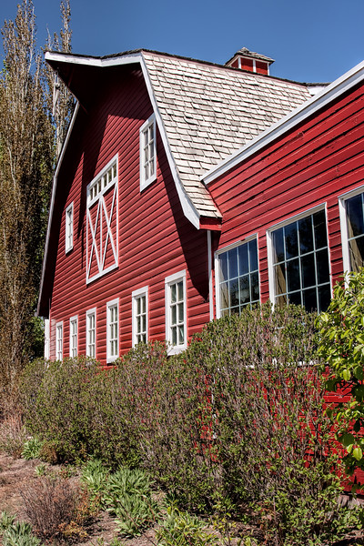 Old Canadian Prairie Red Barn