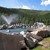 The outdoor rock lake at Chena Hot Springs Resort.