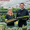 Left: Yolanda Yuhasz - Grower at the Muttart Conservatory<br /> Right: Brad Lazarenko - Director and Executive Chef