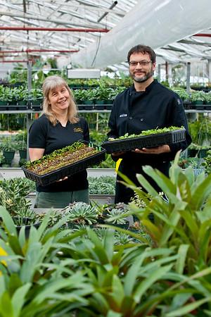Left: Yolanda Yuhasz - Grower at the Muttart Conservatory<br /> Right: Brad Lazarenko - Director and Executive Chef