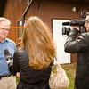 Dean Triechel, Edmonton Valley Zoo Operations Supervisor is interviewed by Shaw Television