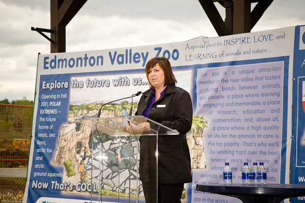 Tammy Wiebe, President of the Valley Zoo Development Society