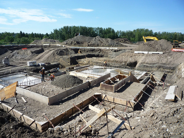 Foundations of the indoor pools for the Winter Retreat Building