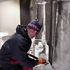 Credit: FCVB/Nicholas Jacobs<br /> <br /> Ice sculptor Steve Brice works behind the scenes at the Fairbanks Ice Museum.