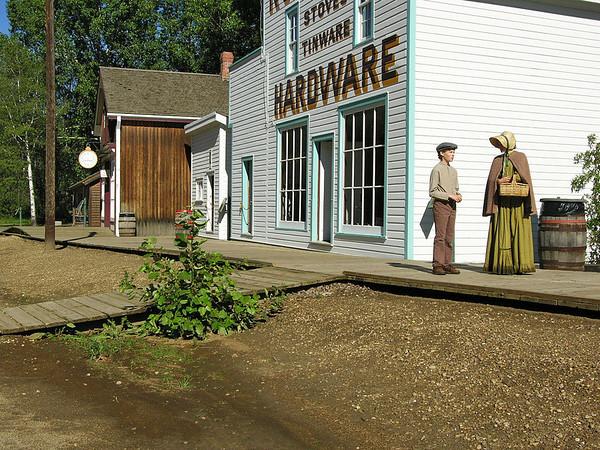 Fort Edmonton Park 1885 Street Woman and Boy
