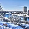 Winter in the City of Saskatoon, Canada