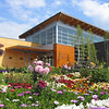Credit: Angie Cerny/Explore Fairbanks<br /> <br /> Flowers at the Morris Thompson Cultural and Visitors Center in Fairbanks, Alaska.