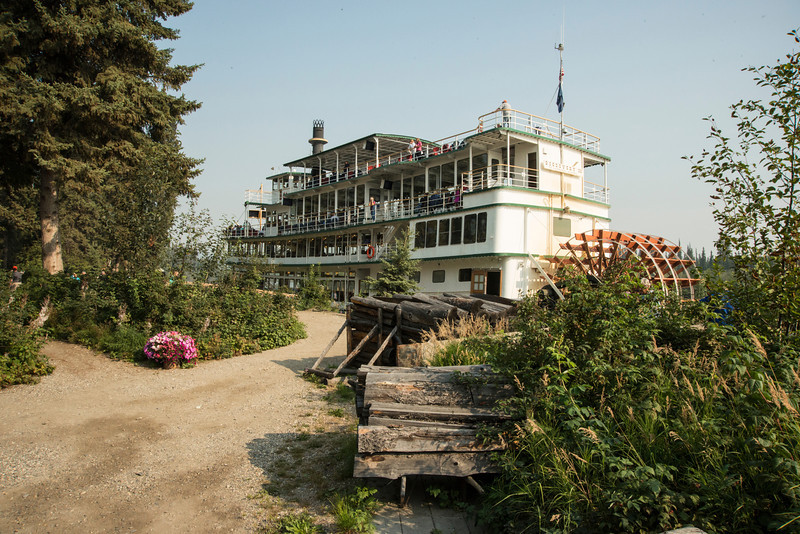 The Riverboat Discovery docked at the Chena Indian Village, Fairbanks.