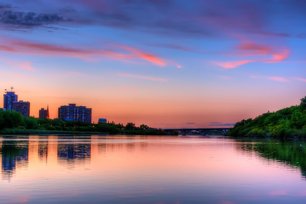 South Saskatchewan River at Sunset