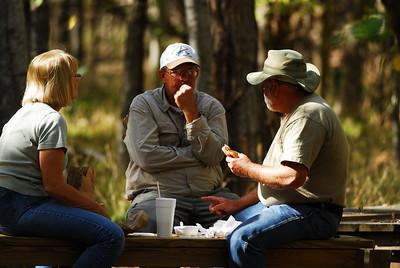 Lunch; BeaAnn-Jay-Jim at Stephen F. Austin State Park