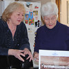 NASHOBA VALLEY VOICE/ANNE O'CONNOR<br /> The Atwood Cuties made a calendar to help fund Townsend's 275th anniversary celebrations in 2006.  Mary Norton, right, is the only living cutie. Maribeth Conrad managed the senior housing and the project.