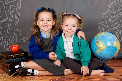 Aubrie & Hadley School Photos