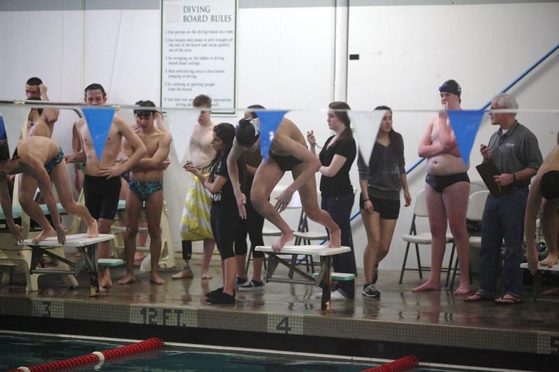 2014 Boys Swim Kentwood vs Auburn Riverside  January 14