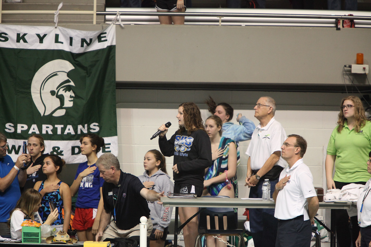 2014 State 4A Prelims - Girls Swim - Nov 14