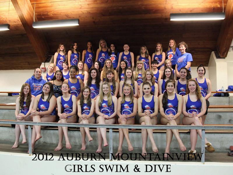 AMHS Girls Swim and Dive 2012