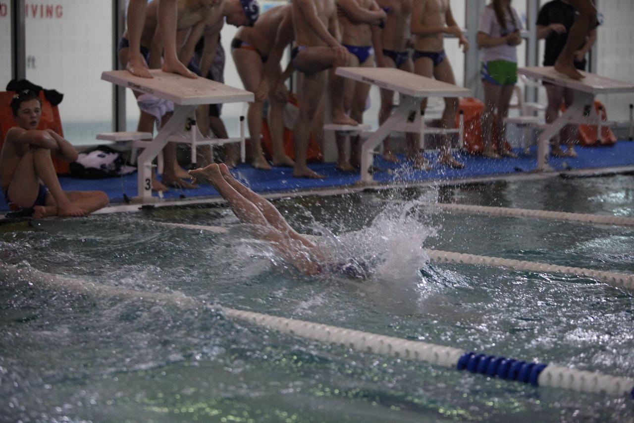 Auburn Mountainview Swim Meet vs Rogers Jan 7 2013