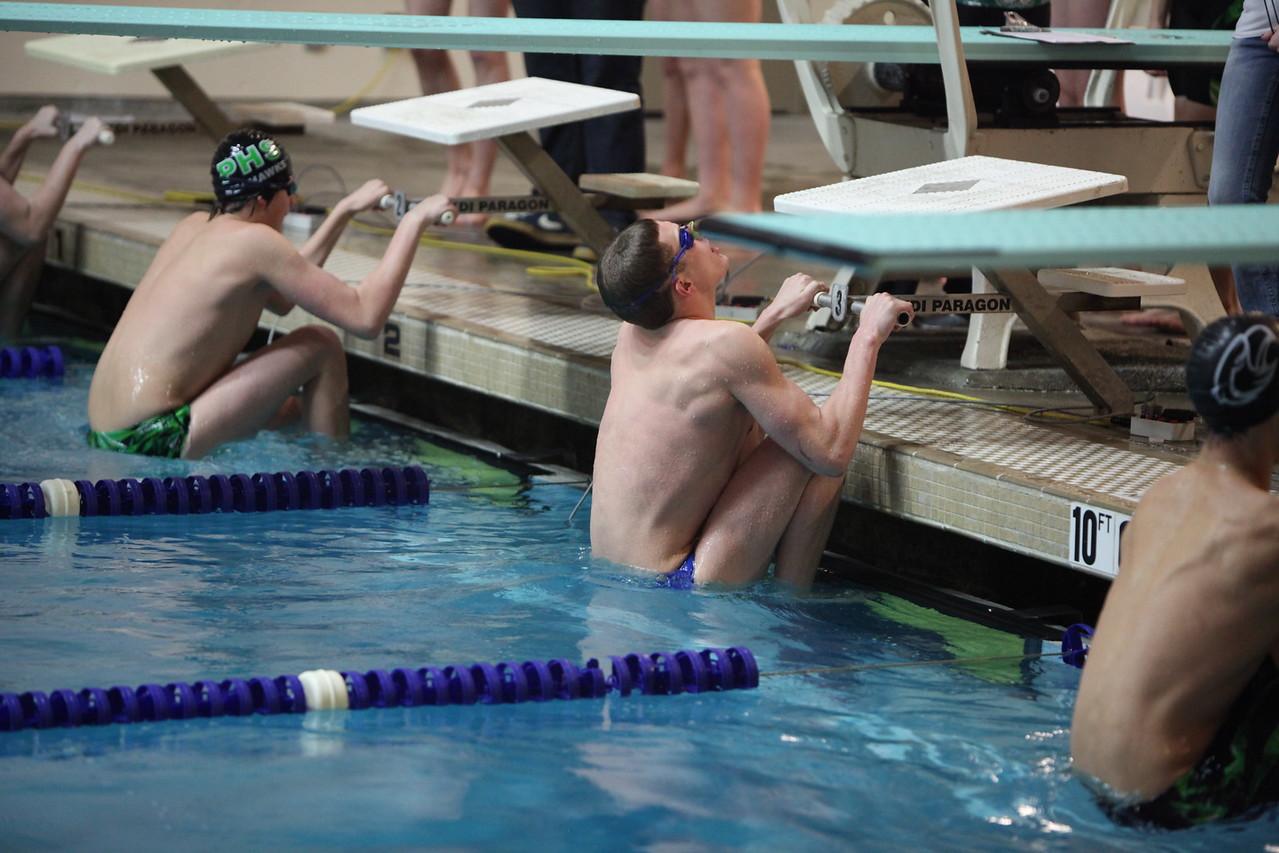 Auburn Mountainview Swim Meet vs Peninsula Jan 22 2013