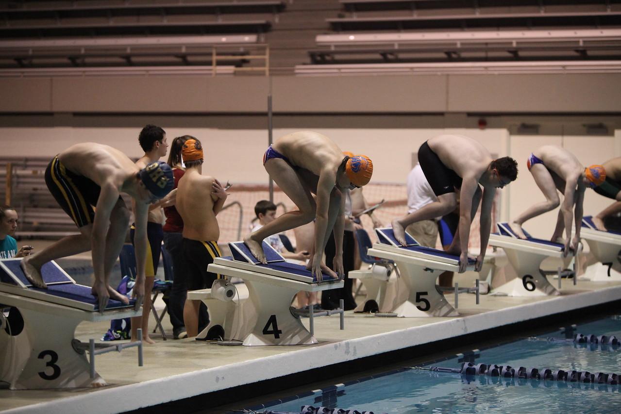 2013 AMHS Boys Swim vs Decatur Dec 17