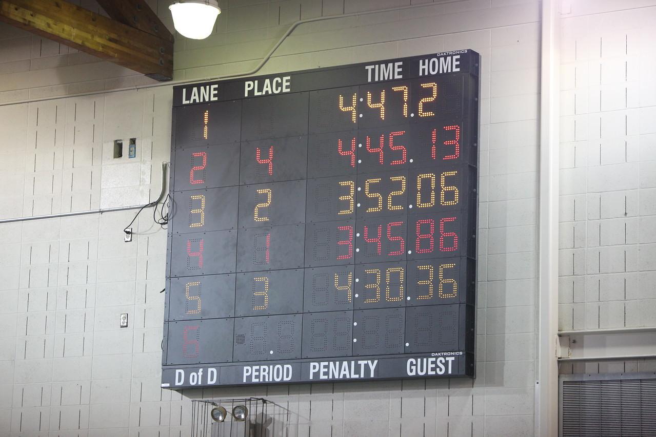 2014 AMHS Boys Swim vs Rogers January 16
