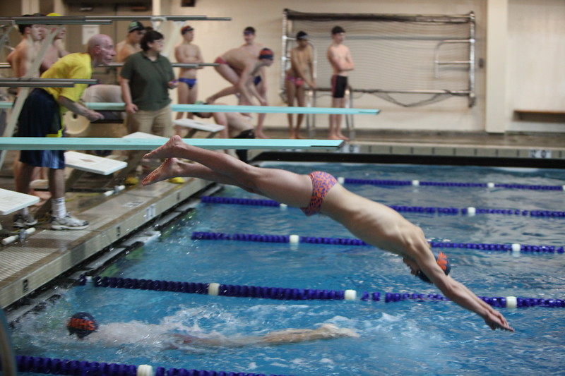 Auburn Mountainview Swim and Dive vs Peninsula 1-25-2012