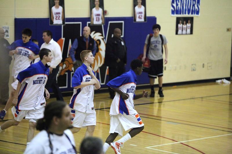 AMHS Boys Basketball vs Enumclaw - Feb 1, 2011