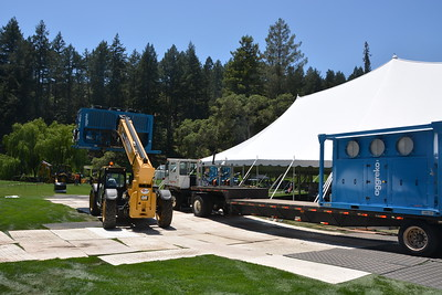 A little heavy lifting setting up for Auction Napa Valley 2016 at Meadowood Napa Valley.  Photo by Tony Albright for Napa Valley Vintners