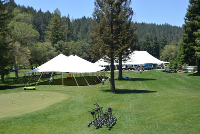 On the greens at Meadowood Napa Valley. Setting up for Auction Napa Valley 2016.  Photo by Tony Albright for Napa Valley Vintners