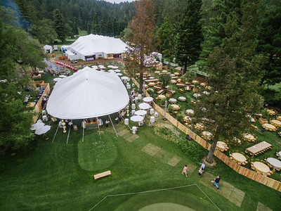 The tents are ready as guests start to arrive at Meadowood for Auction Napa Valley 2016.   Photo by Bob McClenahan for the Napa Valley Vintners