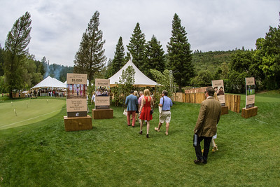 Guests arriving at Auction Napa Valley at Meadowood Napa Valley.   Photo by Bob McClenahan for the Napa Valley Vintners