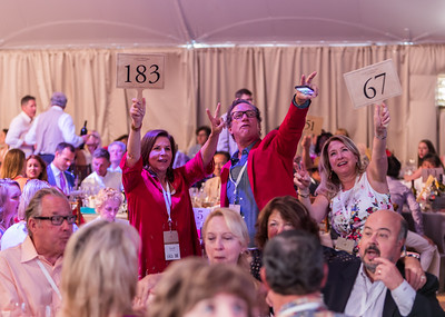 Bidders excited to participate.  Photo by Jon McPherson for Napa Valley Vintners