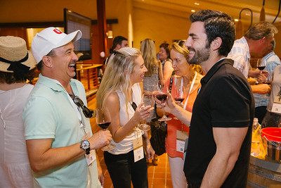 Barrel auction bidders celebrating! Briana Marie Photography for Napa Valley Vintners