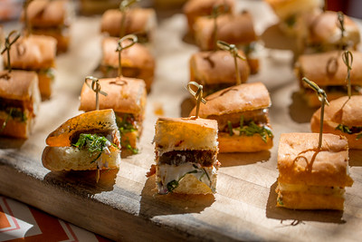 Delectable snacks at the Barrel Auction. Robert Mondavi Winery  Briana Marie Photography for Napa Valley Vintners