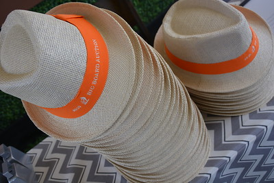 Big Board Auction fedoras awaiting winning bidders.  Photo by Tony Albright for Napa Valley Vintners