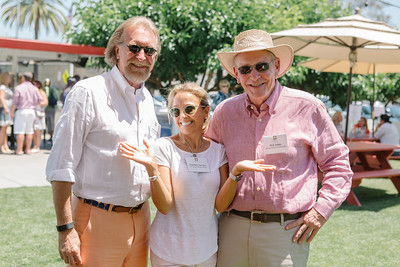 Vintners coming together to kick off Auction week. Bob and Elizabeth Van Dyk with Rick Jones.  Briana Marie Photography for Napa Valley Vintners