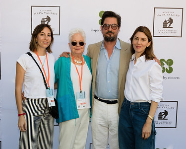 Gia, Eleanor, Roman and Sofia Coppola greeting guests at #auctionnapa Friday Barrel Auction. Photo ©2017 by Jason Tinacci / Napa Valley Vintners