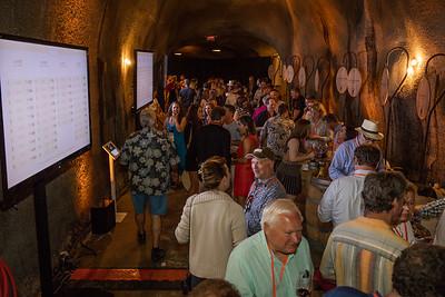 Bidders crammed the cellar to taste and bid on barrel lots. Photo ©2017 by Jason Tinacci / Napa Valley Vintners
